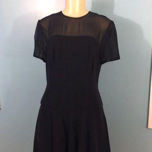 Melinda Eng Dresses - Melinda Eng Sheer Neck Formal Silk Dress